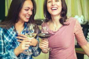 Ladies enjoying Napa Valley Wine Tours
